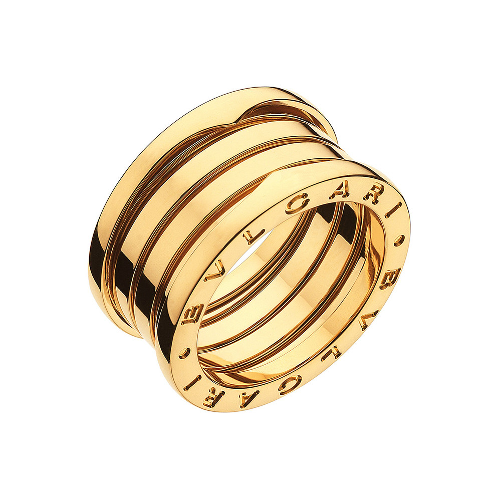 "18k Yellow Gold ""B.Zero1"" 4-Band Ring"