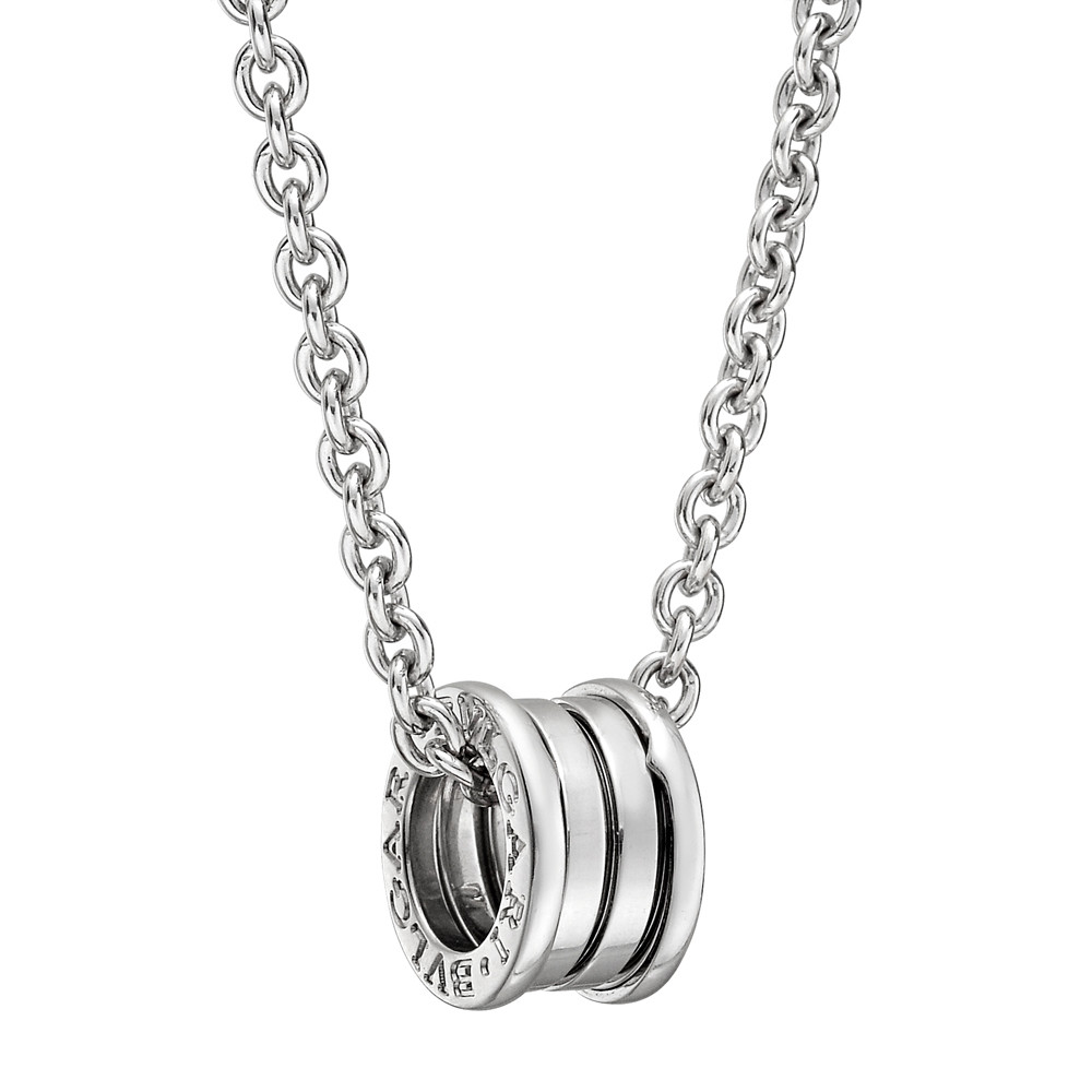 Bulgari bzero1 white gold pendant necklace betteridge on the matching 16 fine link chain necklace in 18k white gold the pendant and necklace signed bvlgari 060 15mm pendant diameter mozeypictures Image collections