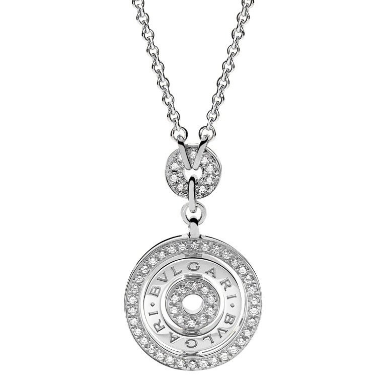 "18k White Gold & Diamond ""Cerchi"" Pendant"