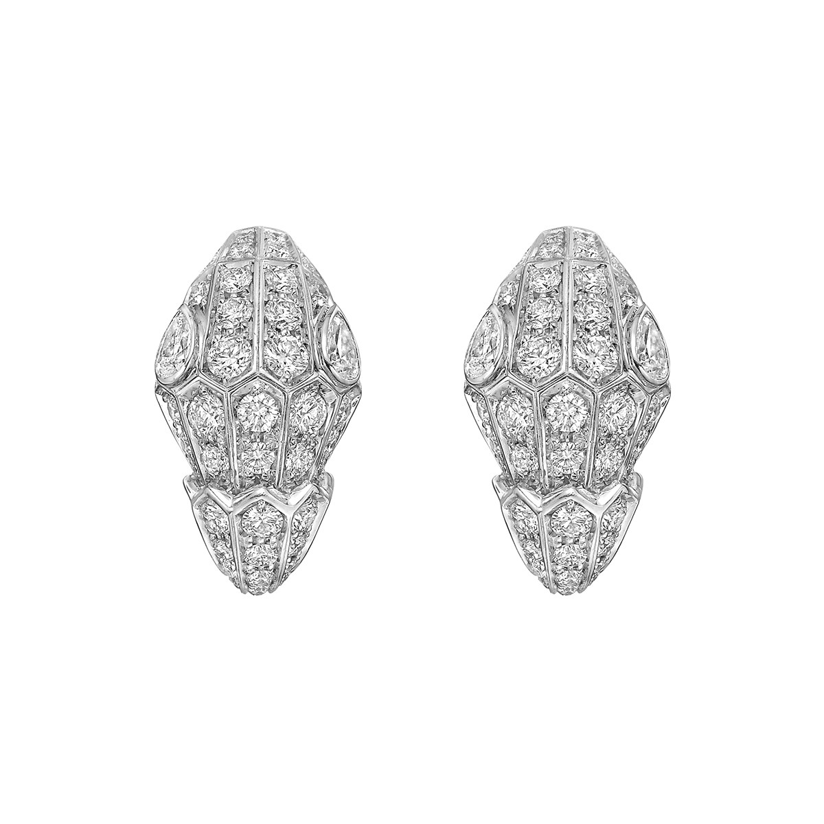 "Pavé Diamond ""Serpenti"" Earrings"