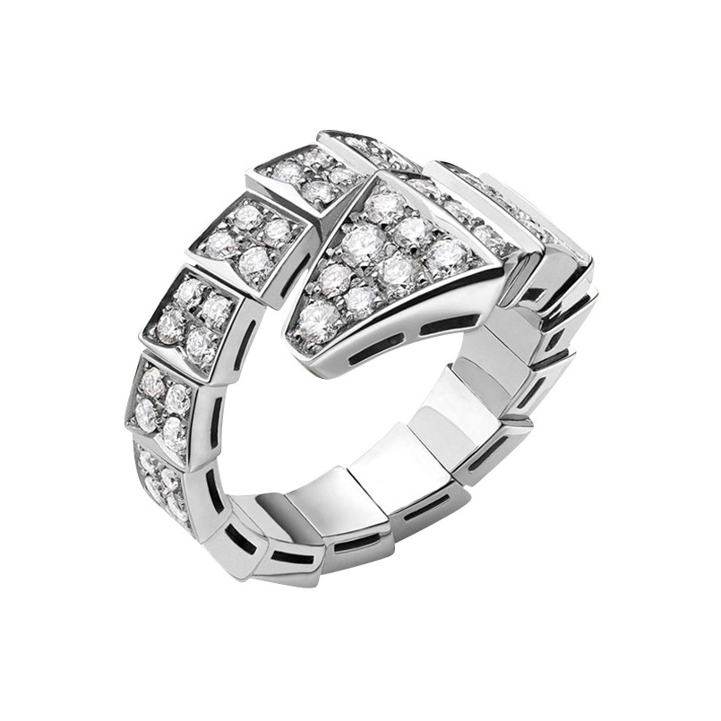 "Pavé Diamond ""Serpenti"" Ring"