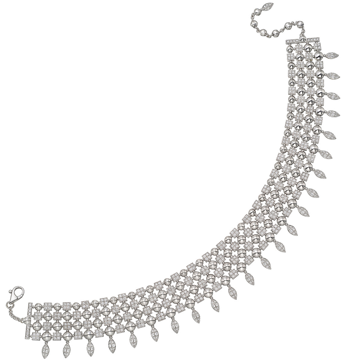 "18k White Gold & Diamond ""Lucea"" Choker Necklace"