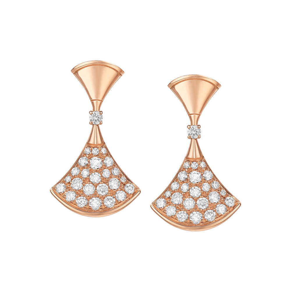 "18k Pink Gold & Diamond ""Divas' Dream"" Drop Earrings"