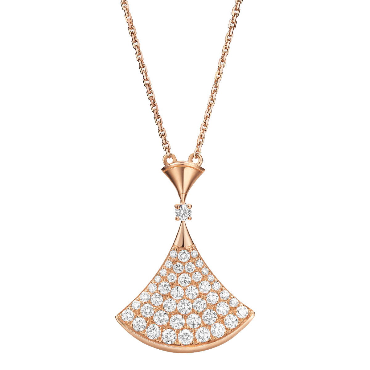 "18k Pink Gold & Diamond ""Divas' Dream"" Pendant"