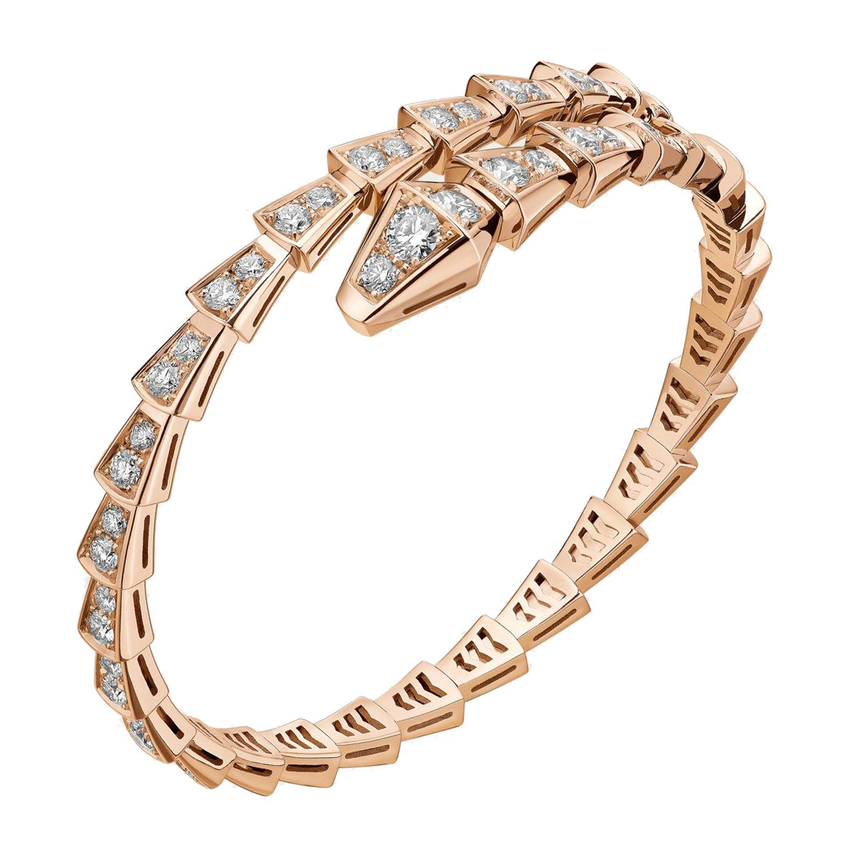 "18k Rose Gold & Diamond ""Serpenti"" Bracelet"