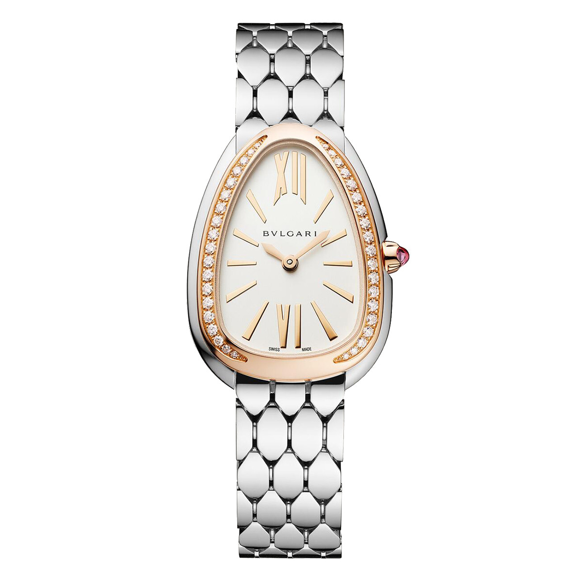 Serpenti Seduttori Steel, Rose Gold & Diamonds (103143)