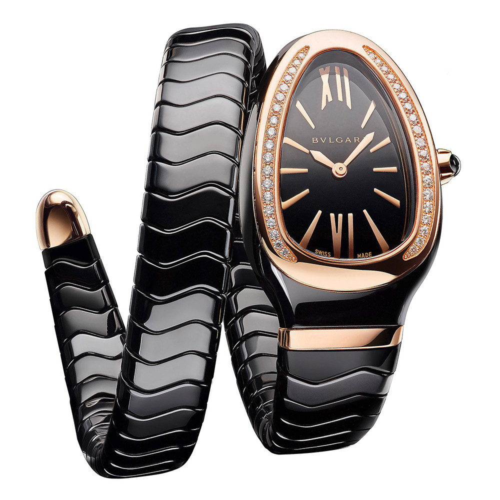 Serpenti Spiga Rose Gold & Black Ceramic (102532)