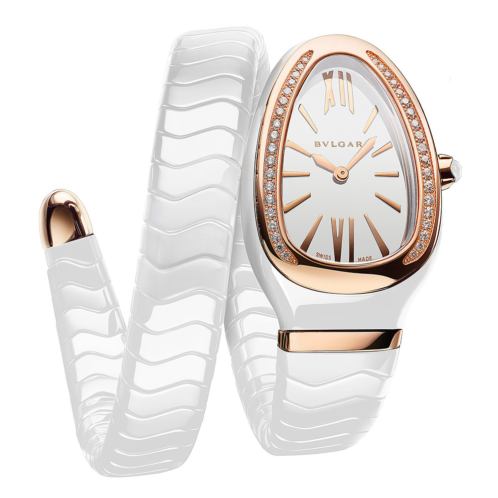 Serpenti Spiga Rose Gold & White Ceramic (102613)