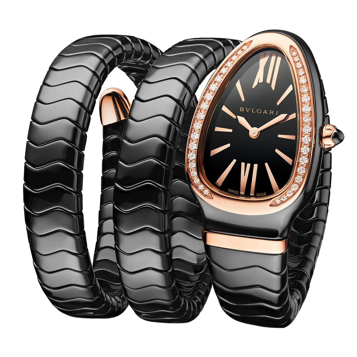 Serpenti Spiga Black Ceramic & Rose Gold (102885)