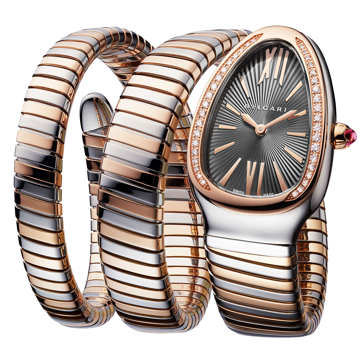 Serpenti Tubogas Steel & Pink Gold (102680)