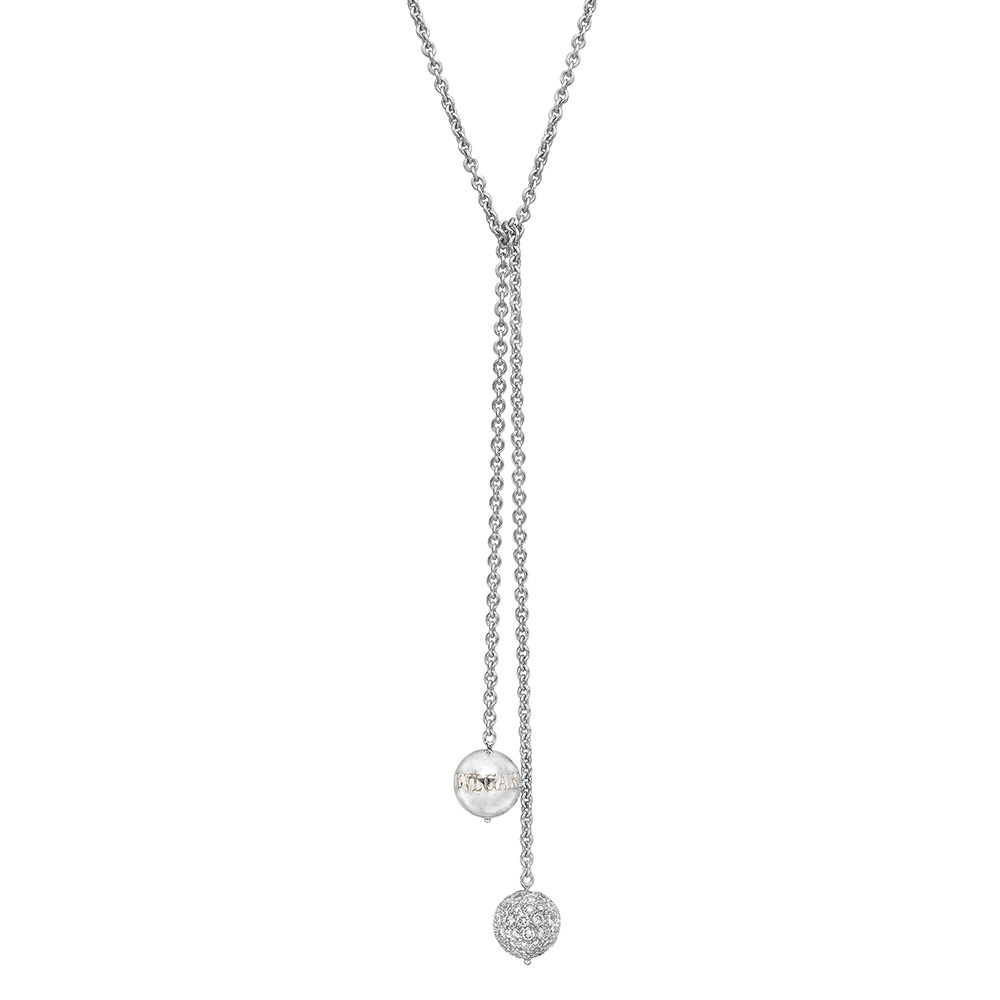18k White Gold & Diamond Lariat Necklace