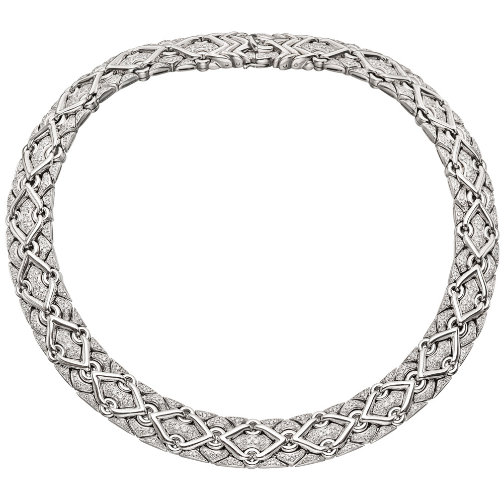 "18k White Gold & Diamond ""Trika"" Necklace"