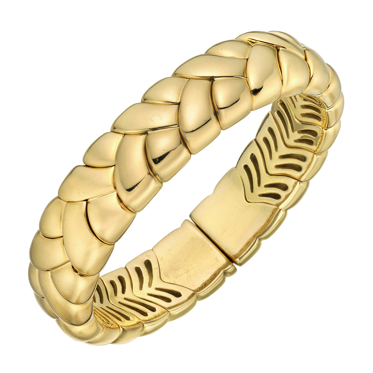 18k Yellow Gold Braided Cuff Bracelet