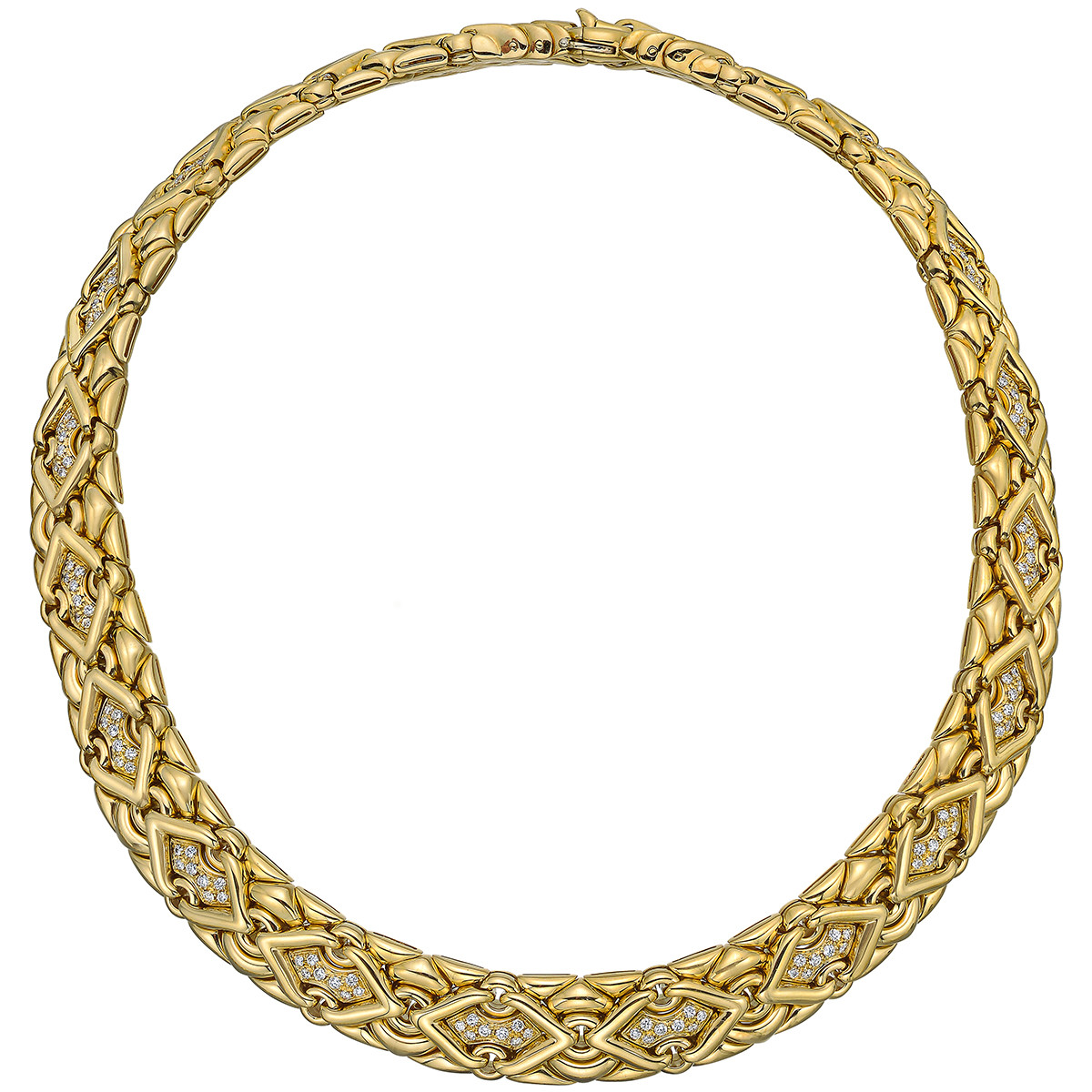"18k Yellow Gold & Diamond ""Trika"" Necklace"