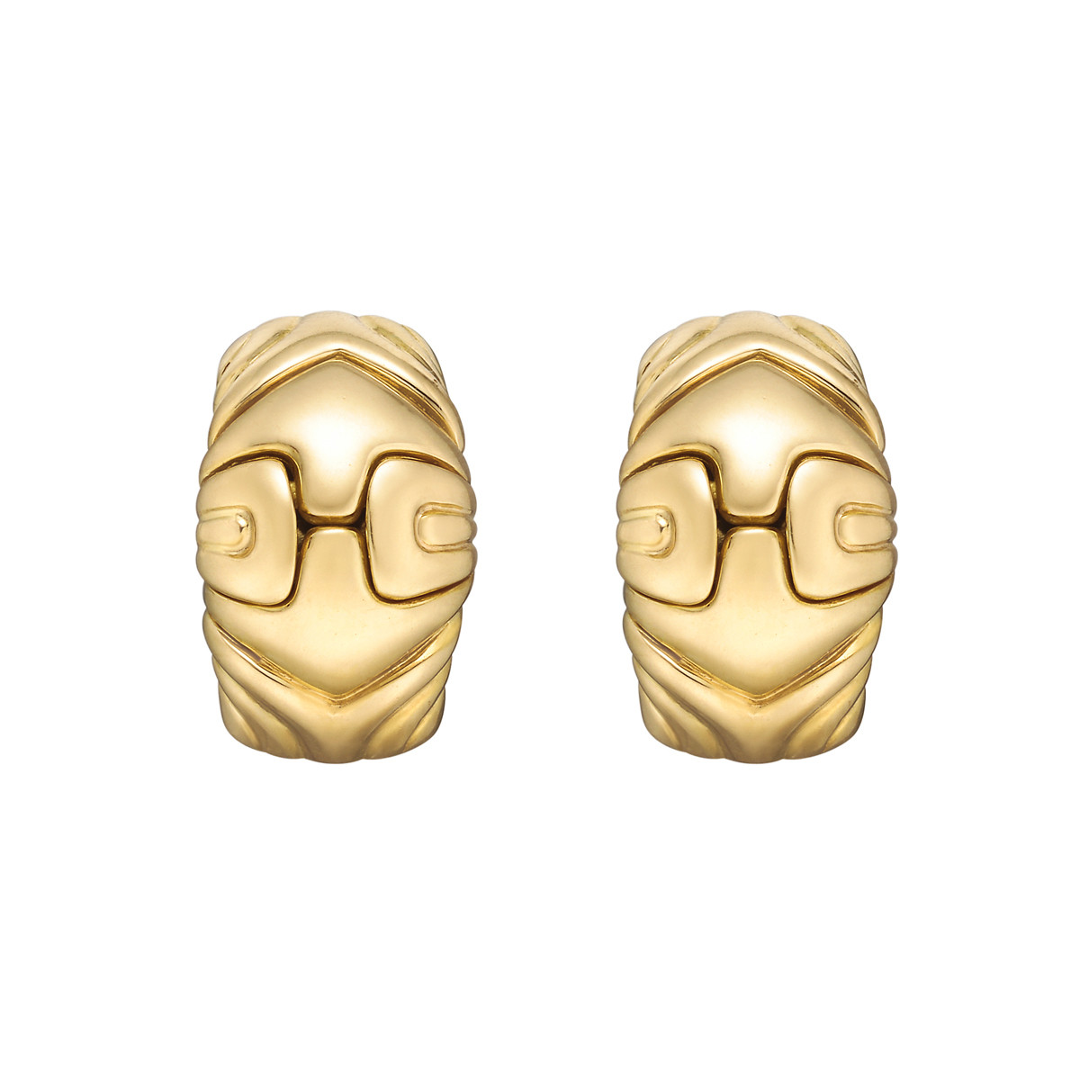 "18k Yellow Gold ""Parentesi"" Earclips"