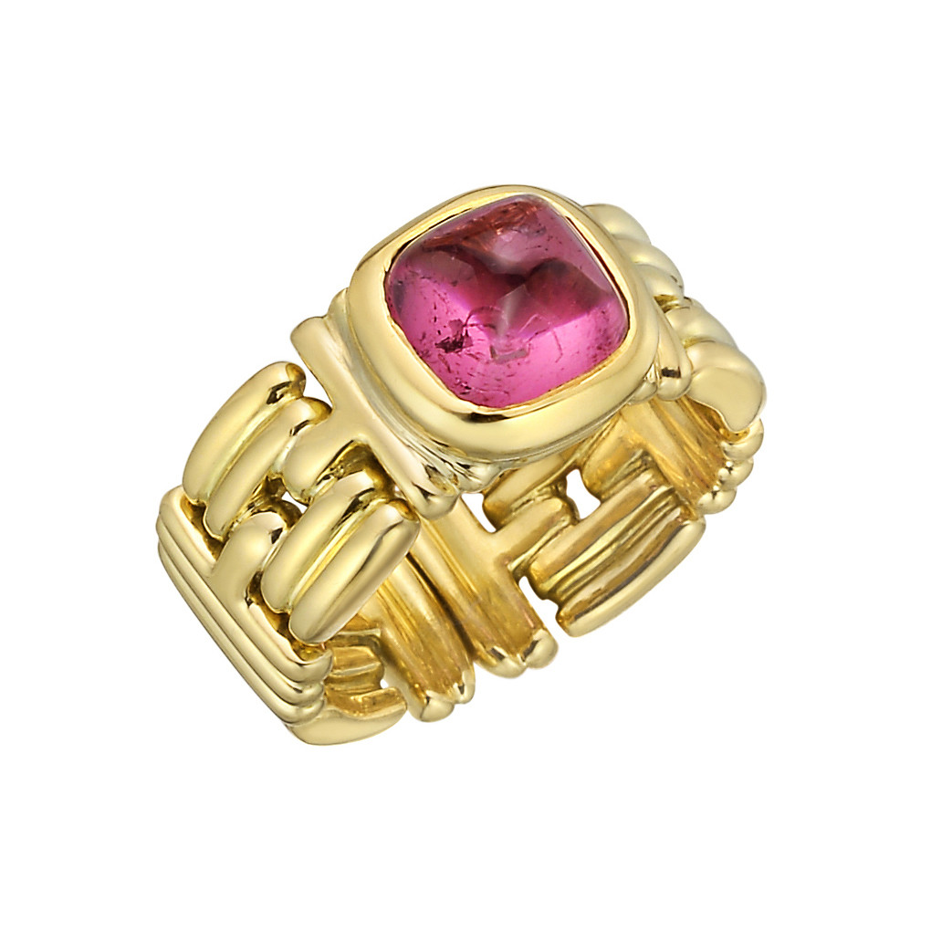 18k Yellow Gold & Pink Tourmaline Ring
