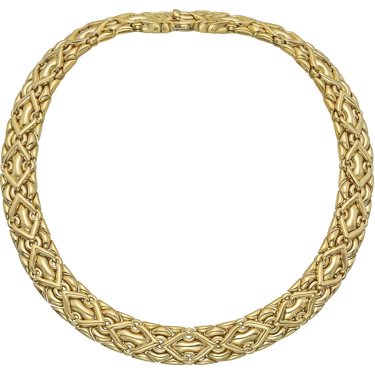 "18k Yellow Gold ""Trika"" Collar Necklace"