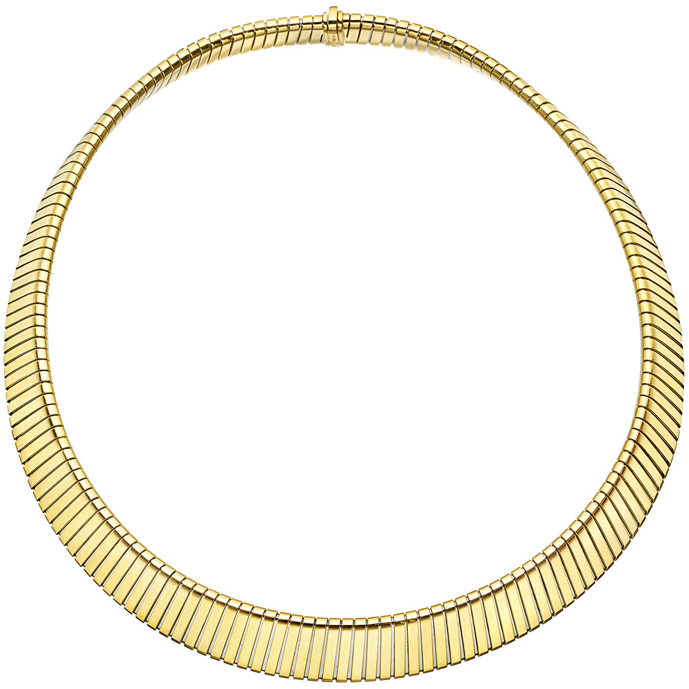 18k Yellow Gold Tubogas Collar Necklace