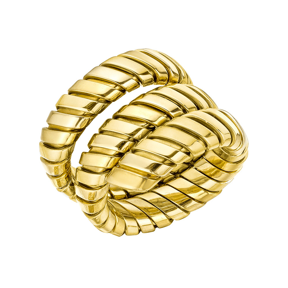 "18k Yellow Gold ""Tubogas"" Wrap Ring"