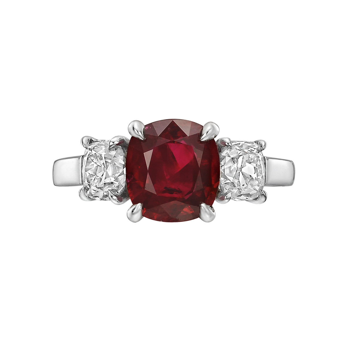 2.16 Carat Burmese Ruby & Diamond Ring