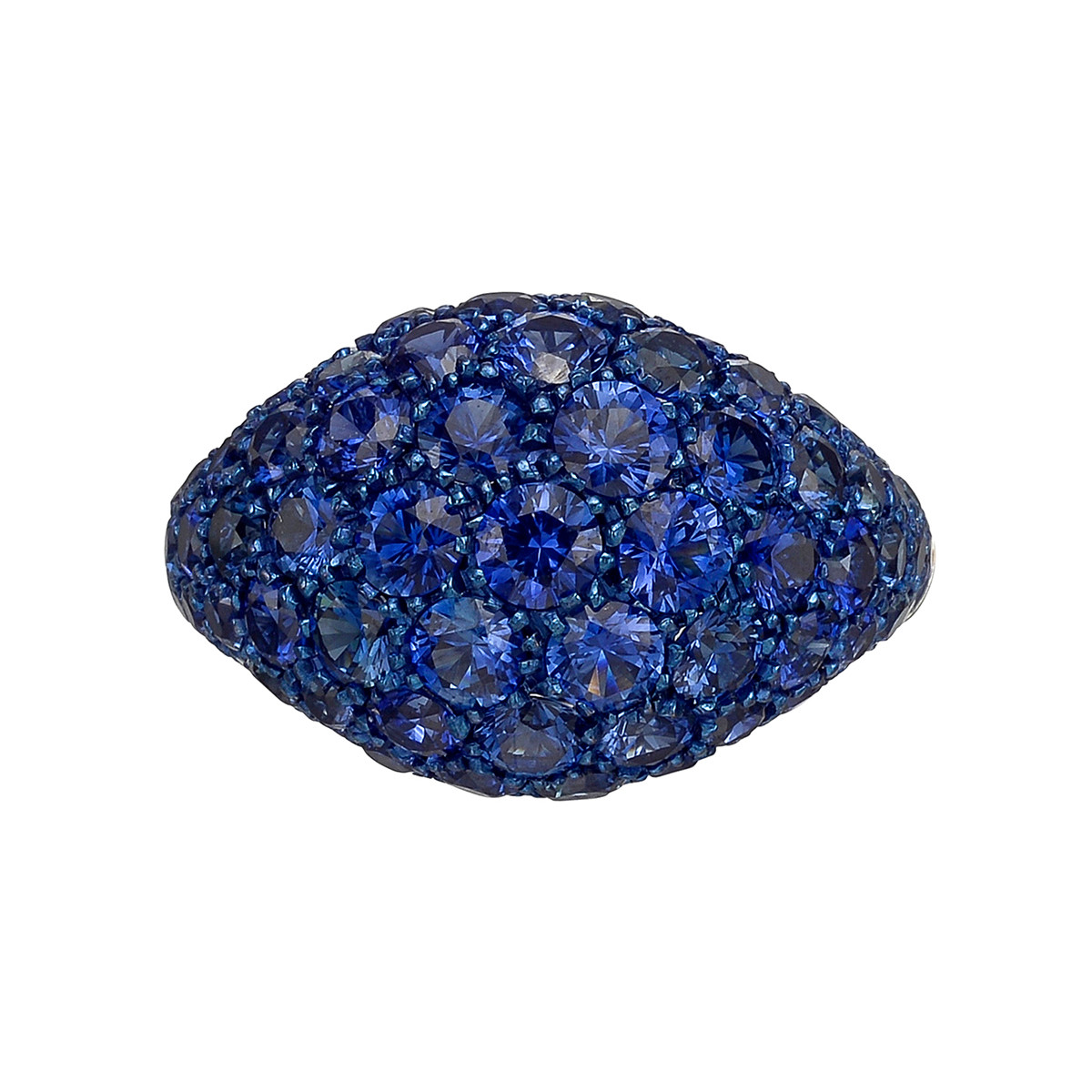 Pavé Sapphire Domed Band Ring