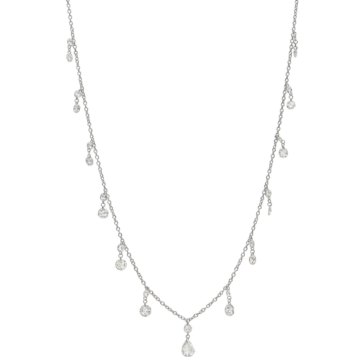 Rose-Cut Diamond Fringe Chain Necklace (2.10 ct tw)