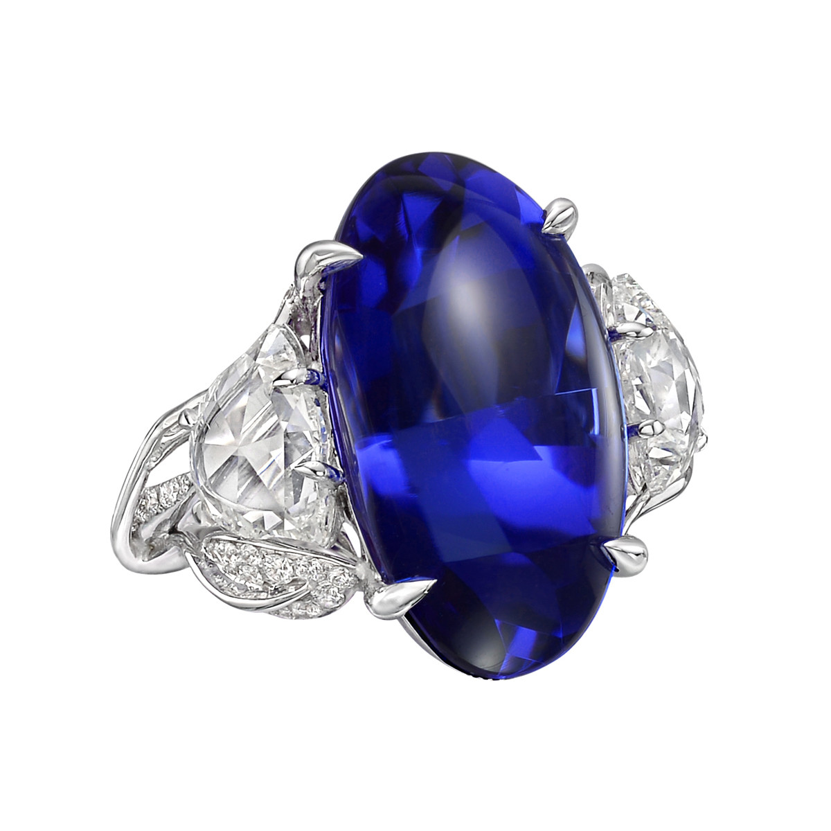 16.12 Carat Tanzanite & Diamond Cocktail Ring