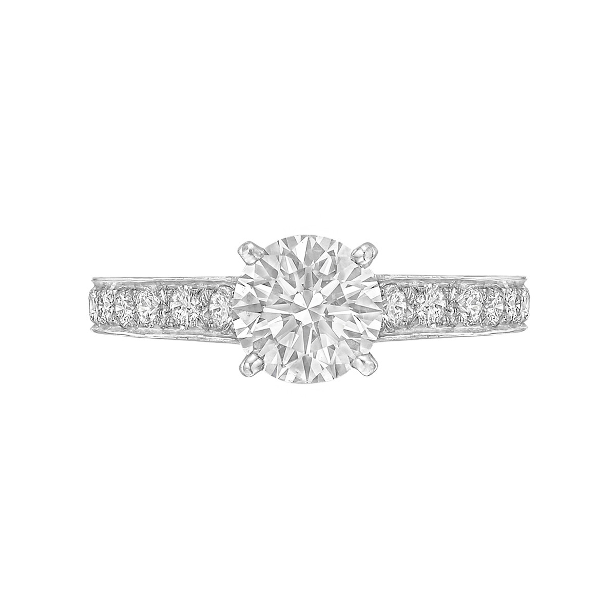 1.28 Carat Round Brilliant Diamond Ring