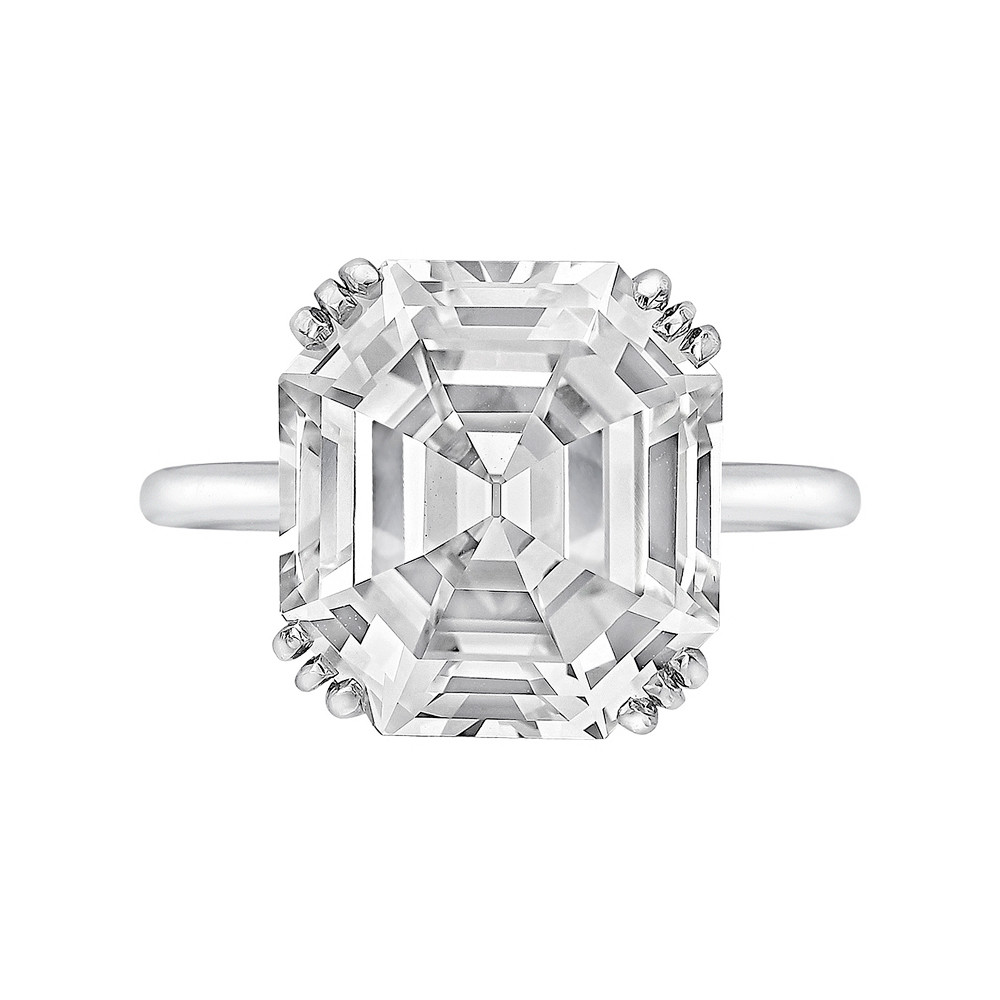 8.06ct Asscher-Cut Diamond Solitaire Ring (E/VVS2)