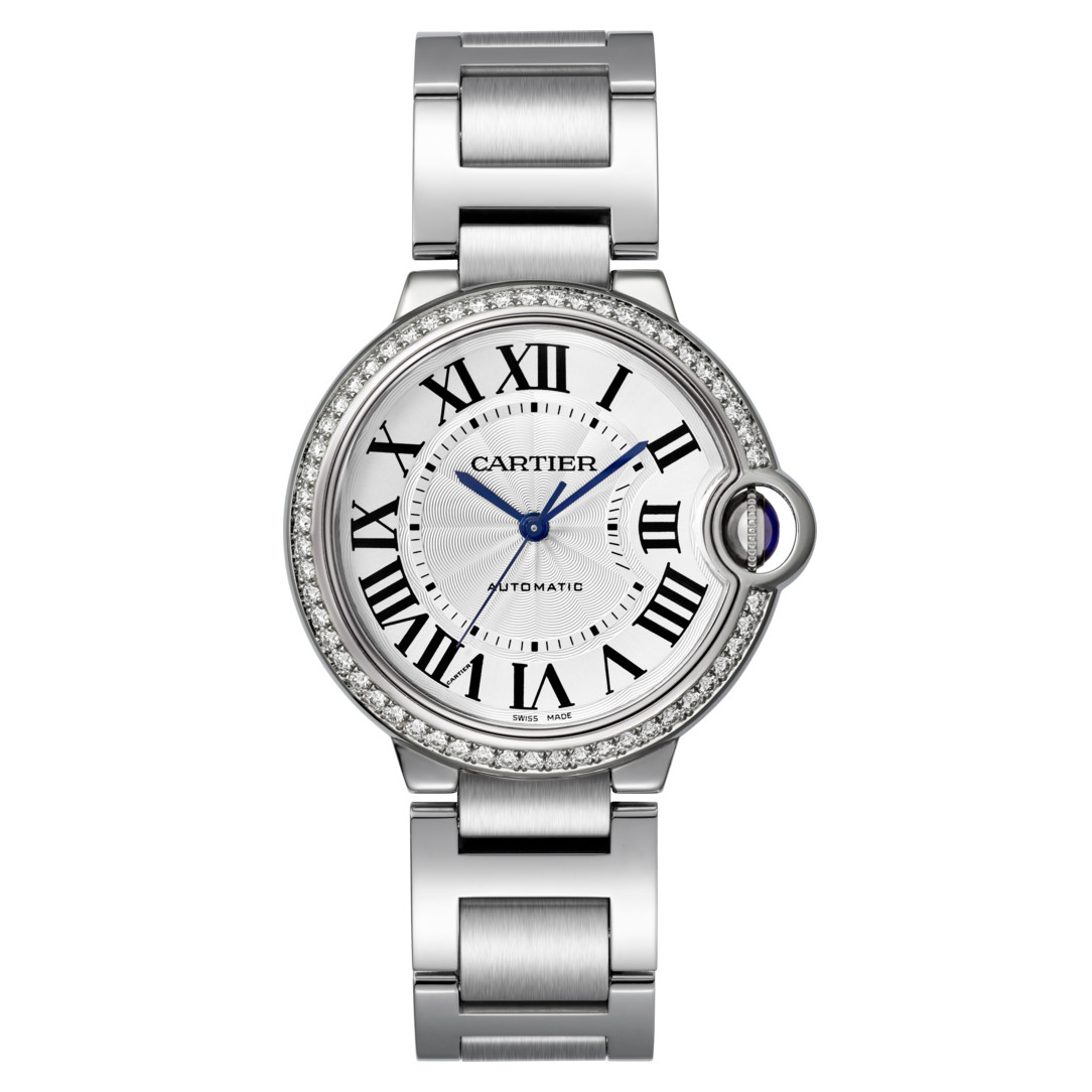 Ballon Bleu 36mm Steel & Diamond (W4BB0017)