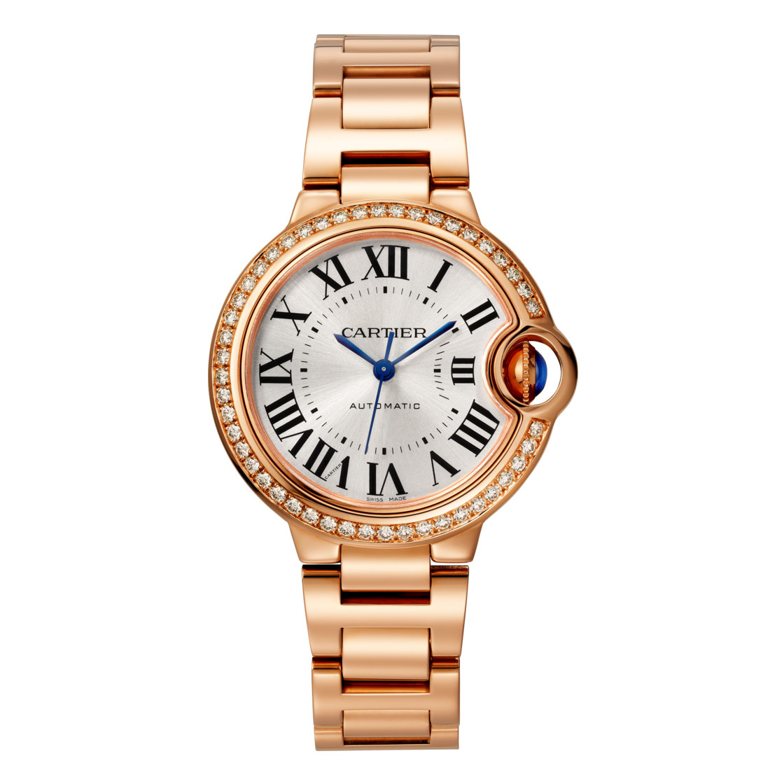 Ballon Bleu 33mm Rose Gold & Diamond (WJBB0036)