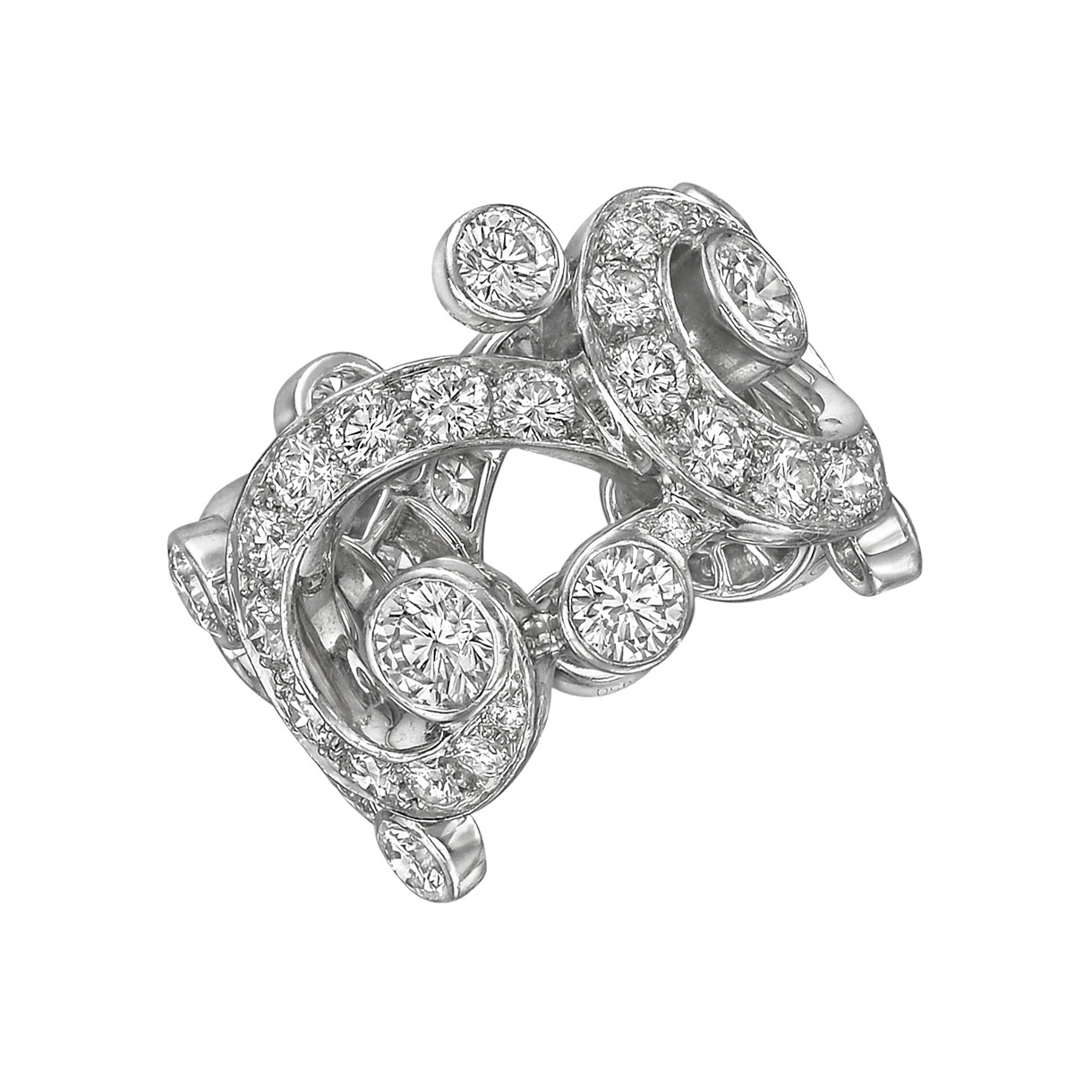 "Diamond ""Boudoir"" Band Ring"