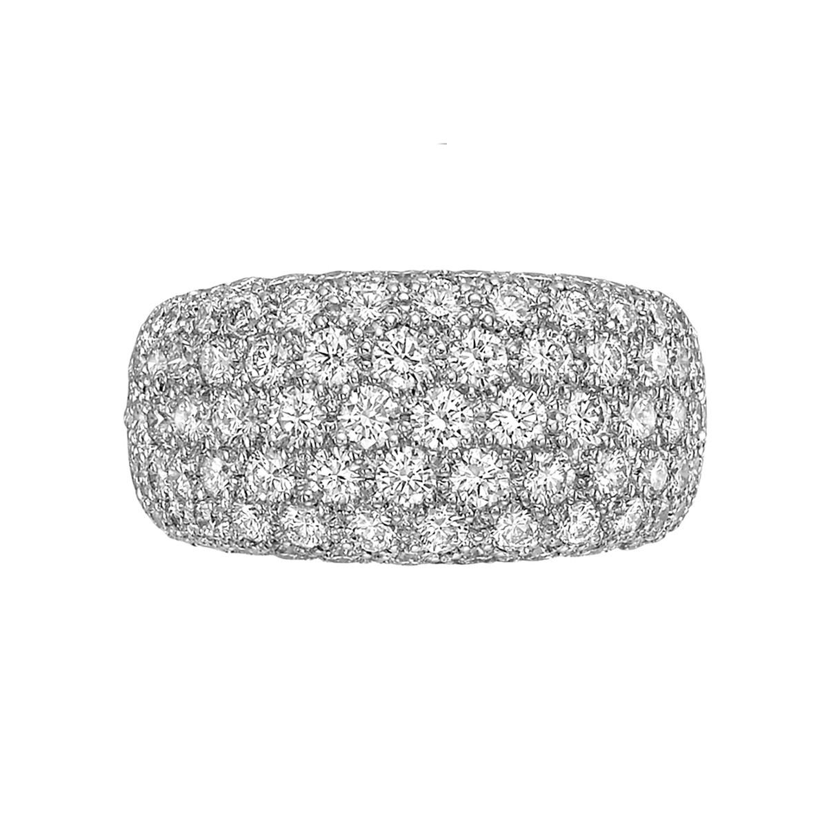 Diamond Domed Eternity Band Ring