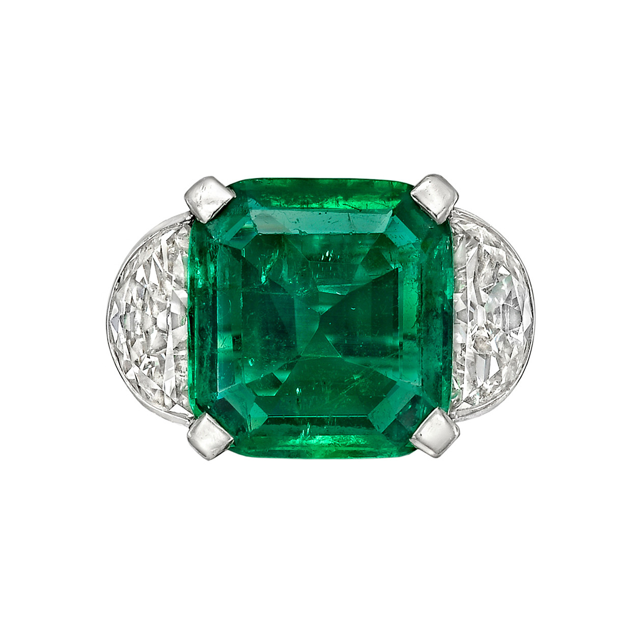 6.25ct Colombian Emerald & Diamond Ring