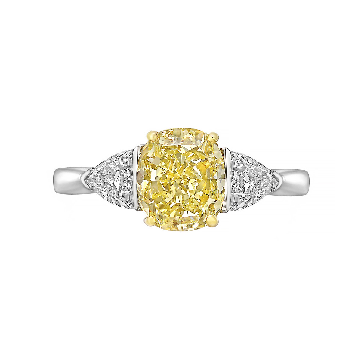 2.12ct Fancy Yellow Diamond Ring