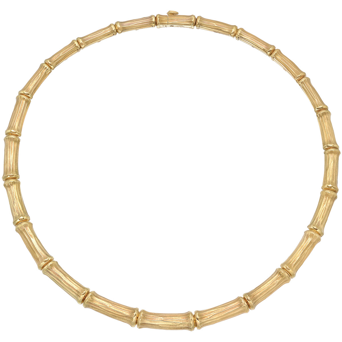 "18k Yellow Gold ""Bamboo"" Collar Necklace"