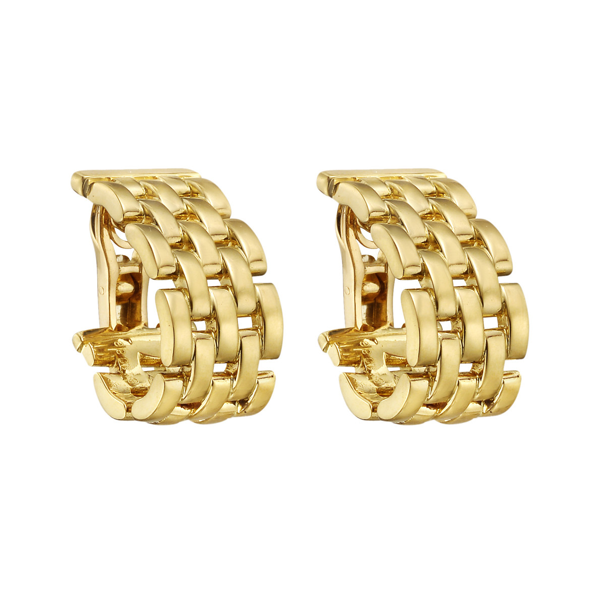 "18k Yellow Gold ""Maillon Panthère"" Earclips"