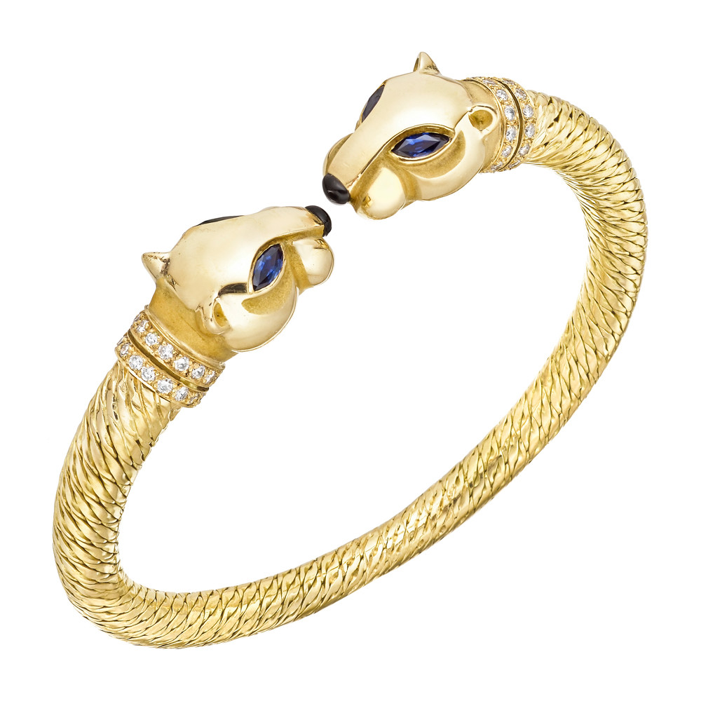 bracelet product enamel goldplated lyst kenneth and black jay lane in gallery jewelry panther