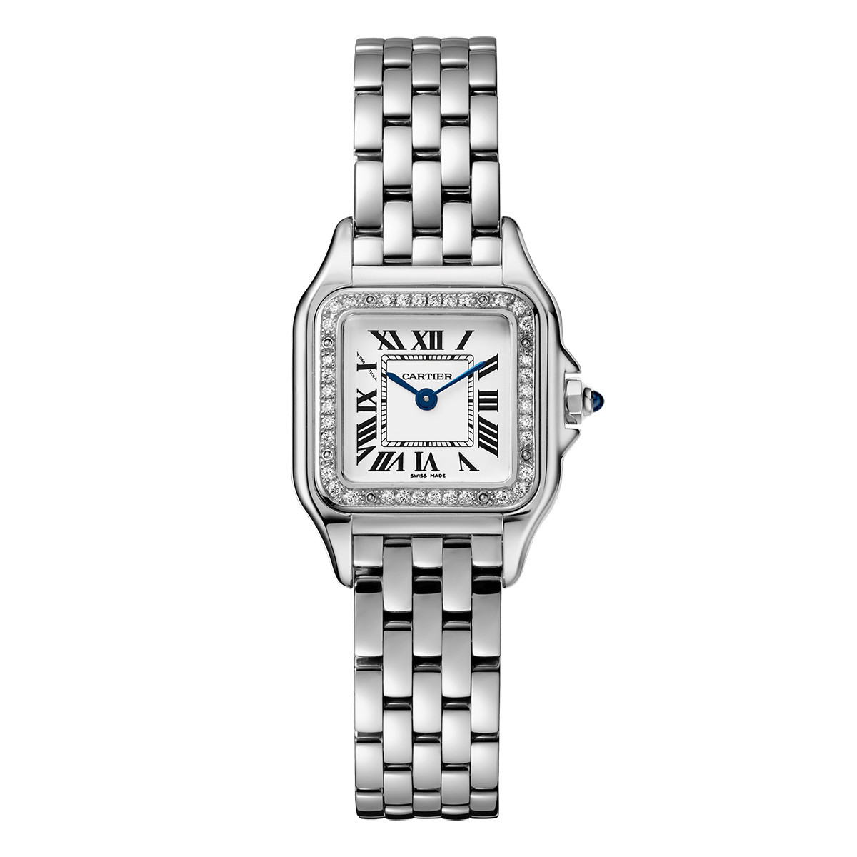 Panthère Small Steel & Diamonds (W4PN0007)