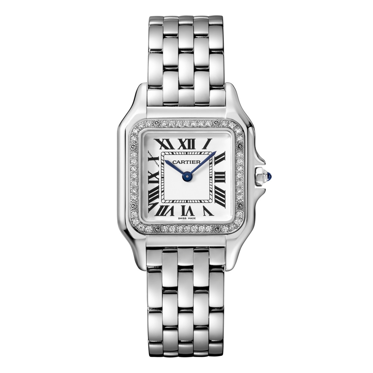 Panthère Medium Steel & Diamonds (W4PN0008)