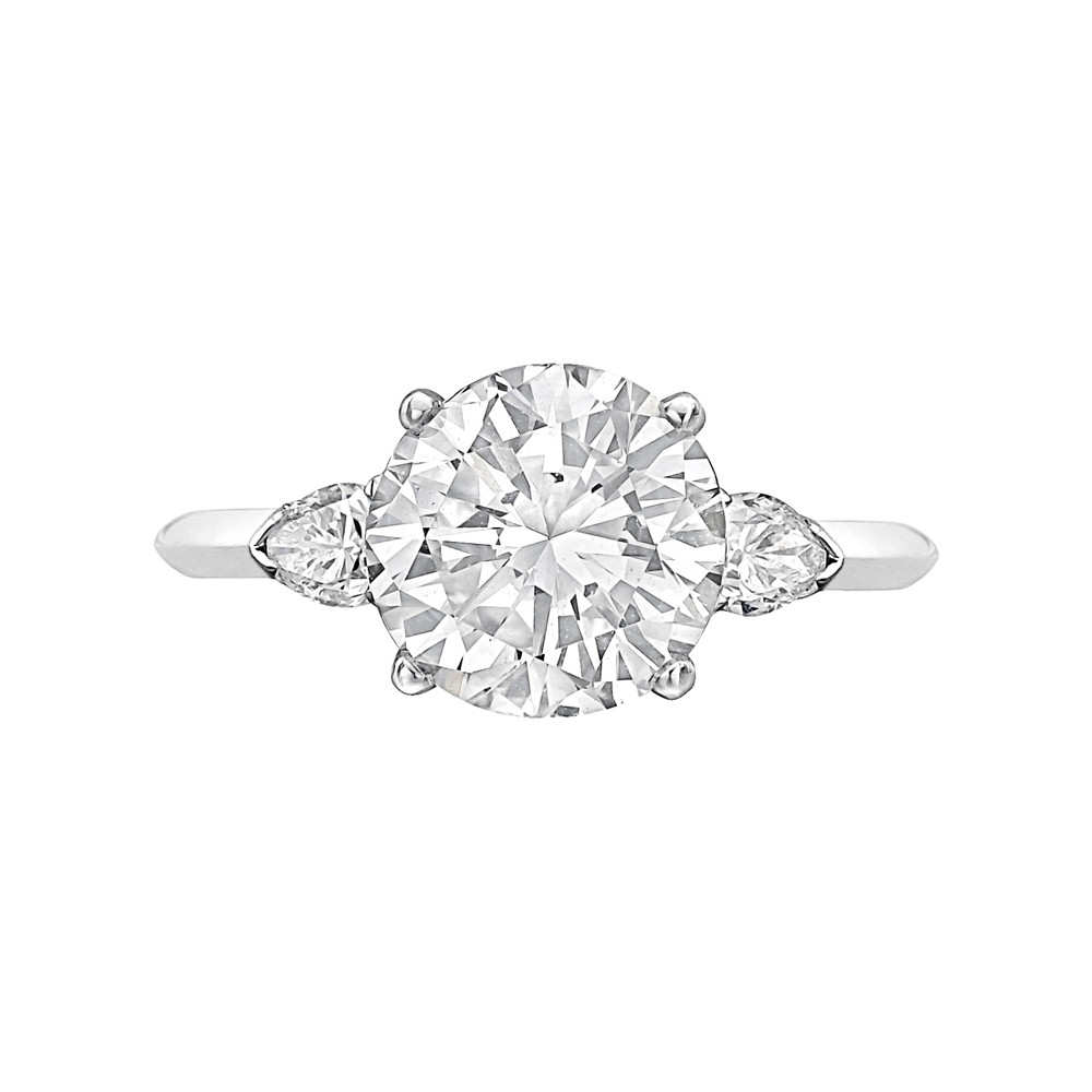 3.05 Carat Round Brilliant Diamond Ring