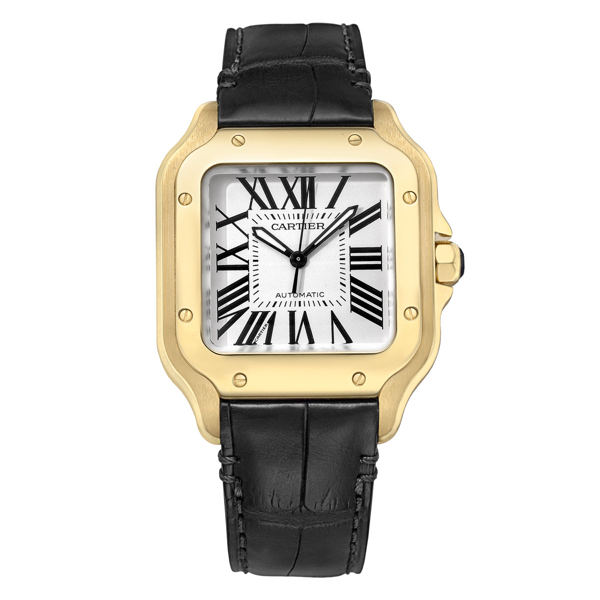 Santos 100 Medium Yellow Gold (2880)