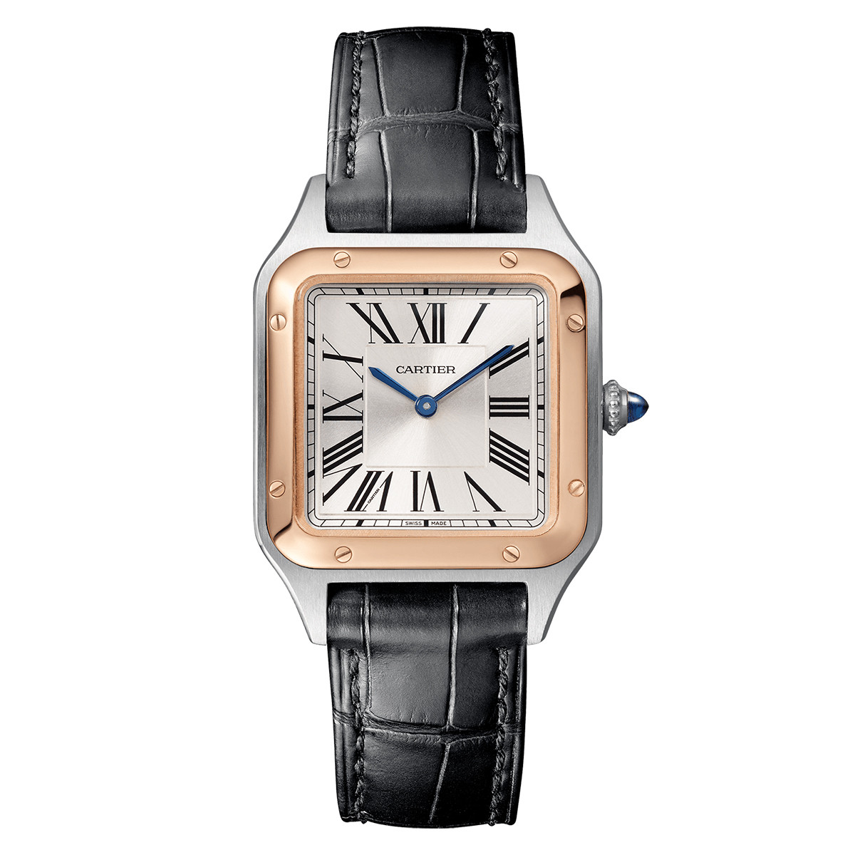 Santos-Dumont Small Steel & Rose Gold (W2SA0012)