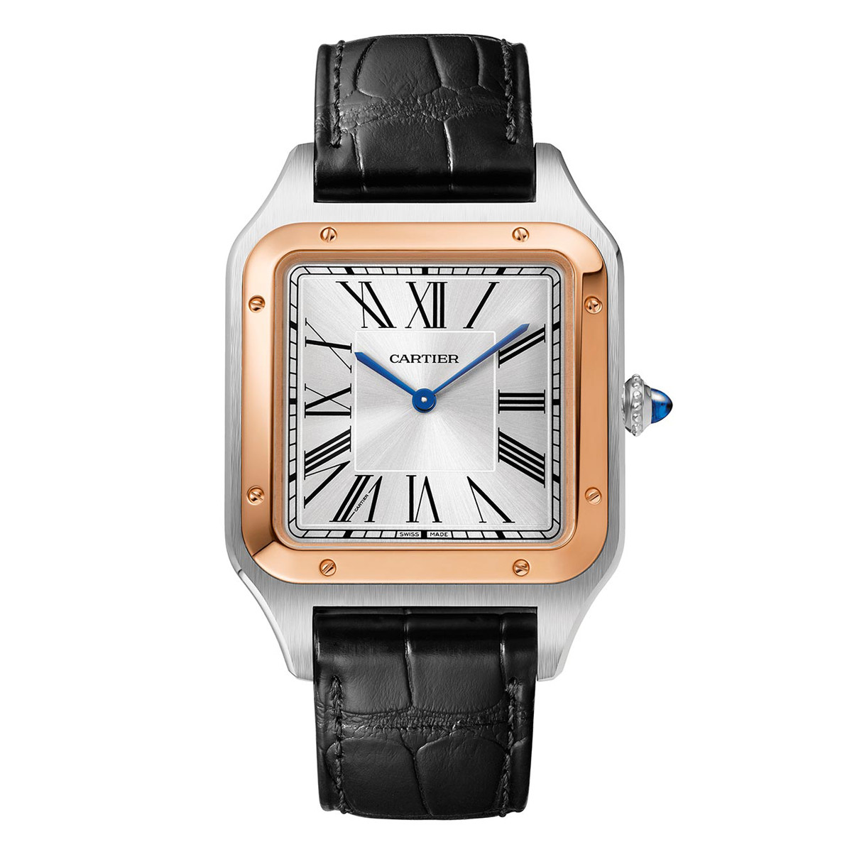 Santos-Dumont XL Rose Gold & Steel (W2SA0017)
