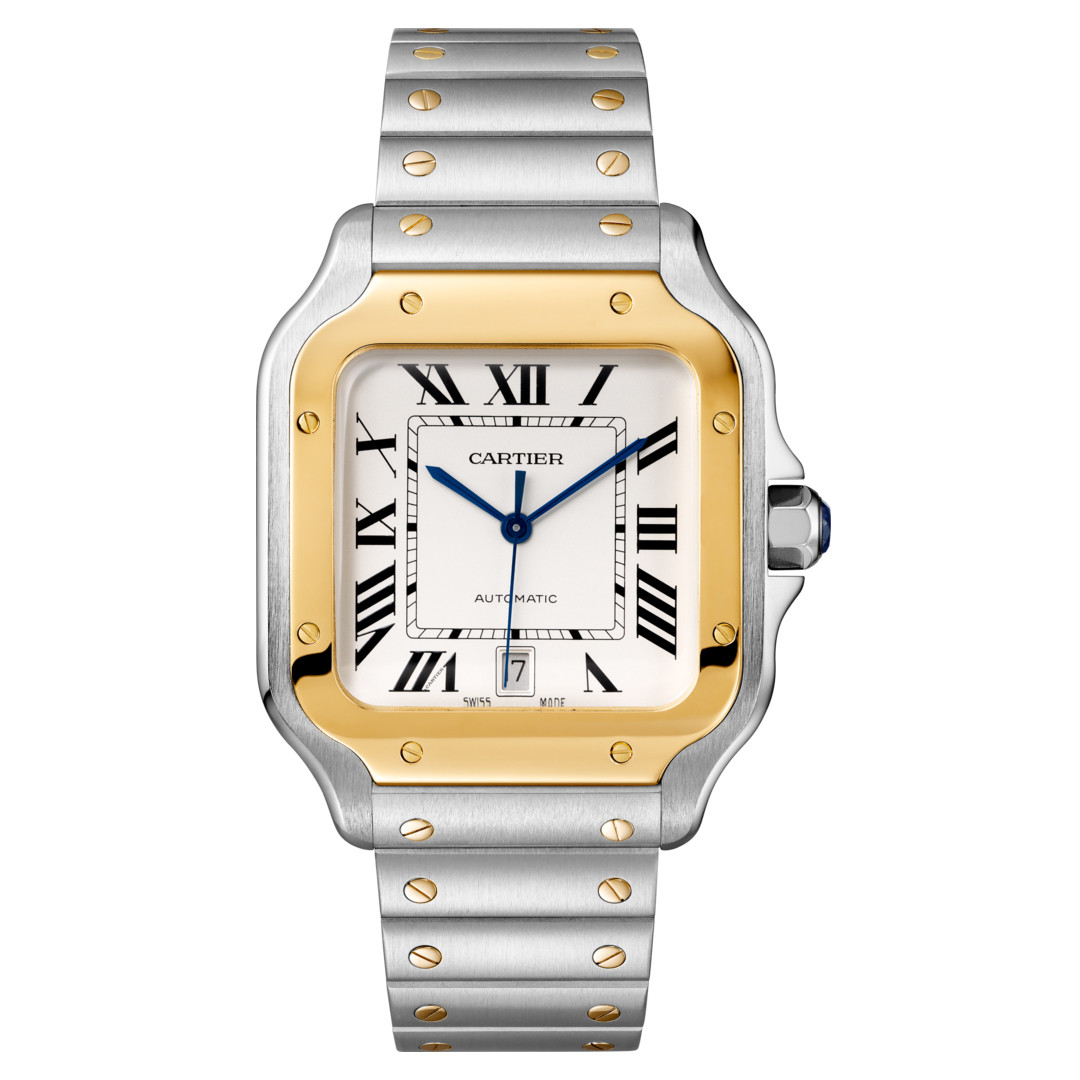 Santos Large Steel & Yellow Gold (W2SA0006)
