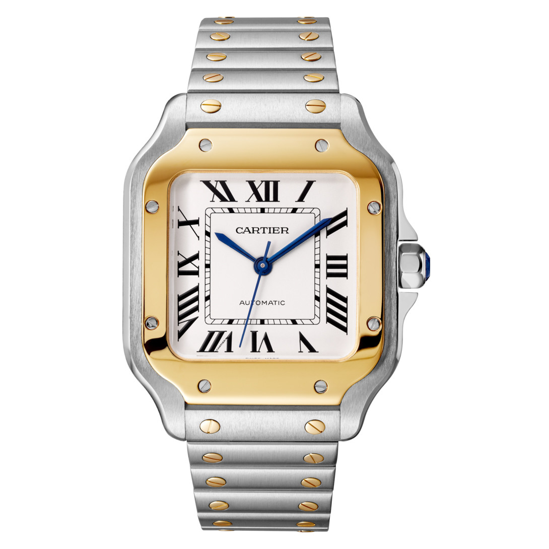 Santos Medium Steel & Yellow Gold (W2SA0007)