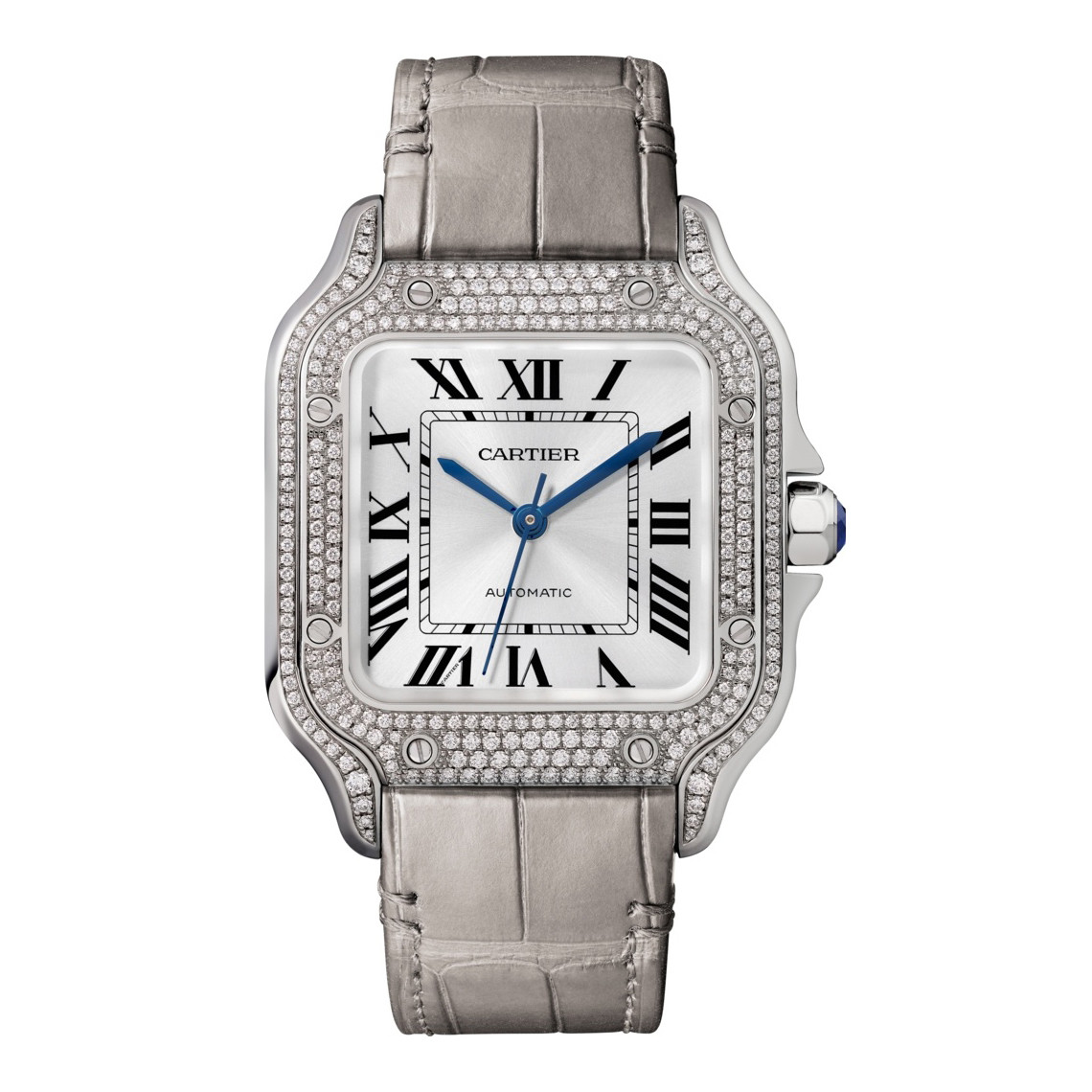 Santos Medium White Gold & Diamond (WJSA0006)