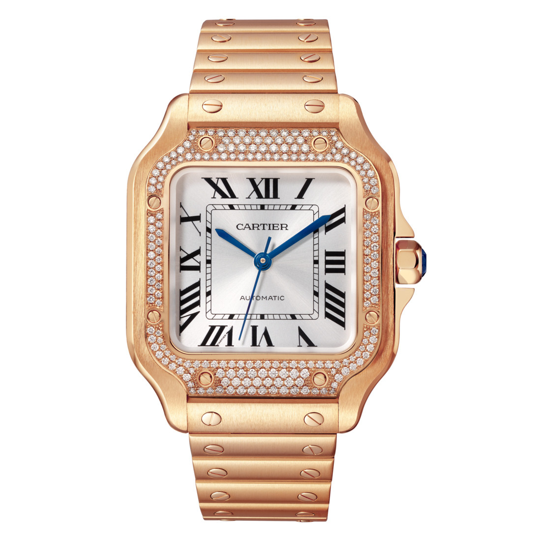 Santos Medium Rose Gold & Diamond (WJSA0009)