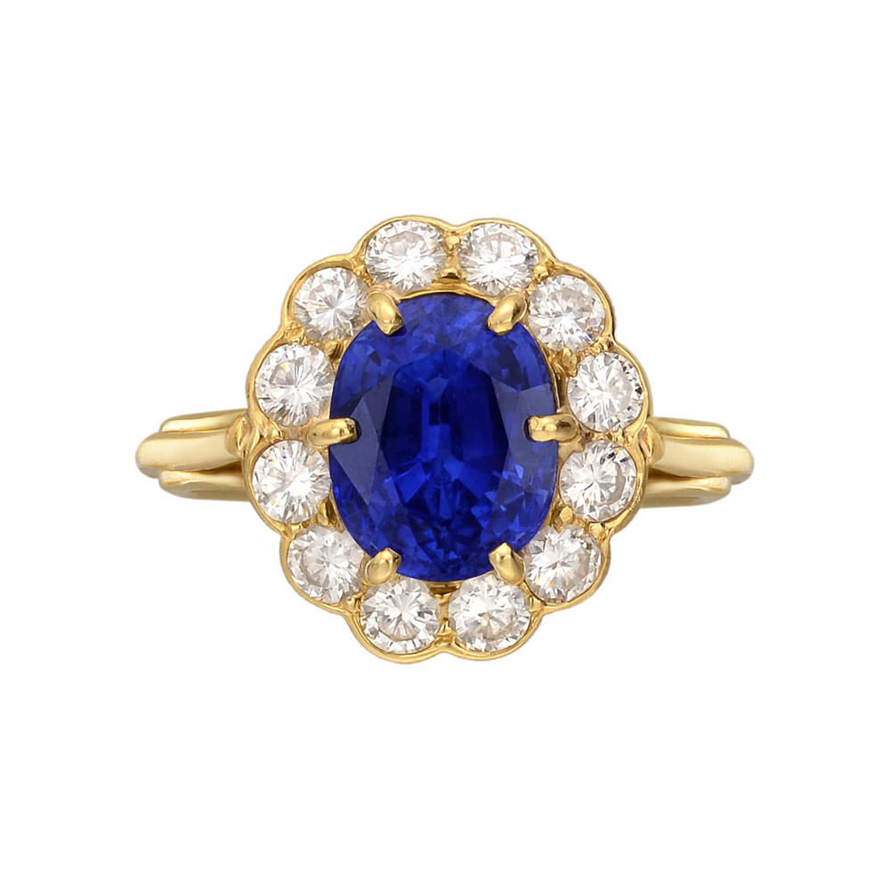 Estate Cartier 3 58 Carat Sapphire Amp Diamond Ring Betteridge