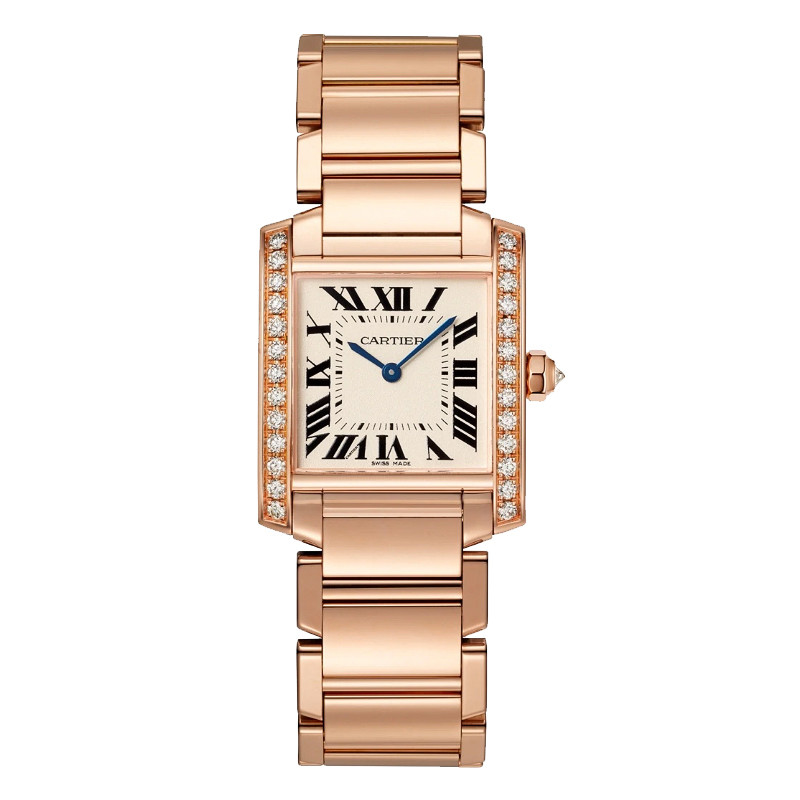 Tank Francaise Medium Rose Gold & Diamonds (WJTA0023)